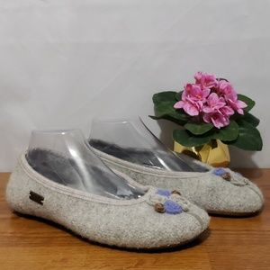 Haflinger Ballerina boiled Wool Slippers